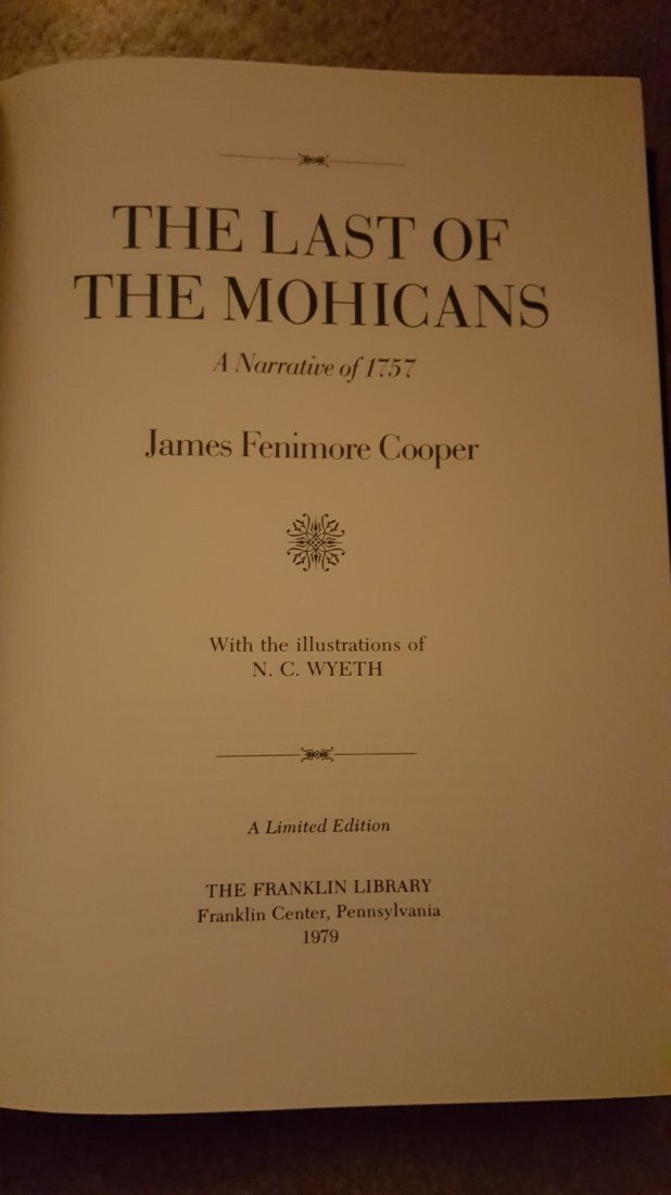 The Last of the Mohicans by James Fenimore Cooper, 1979 - 4