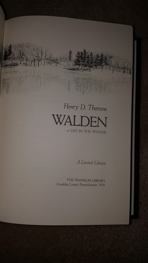 Walden by Henry D. Thoreau, 1976 - 3