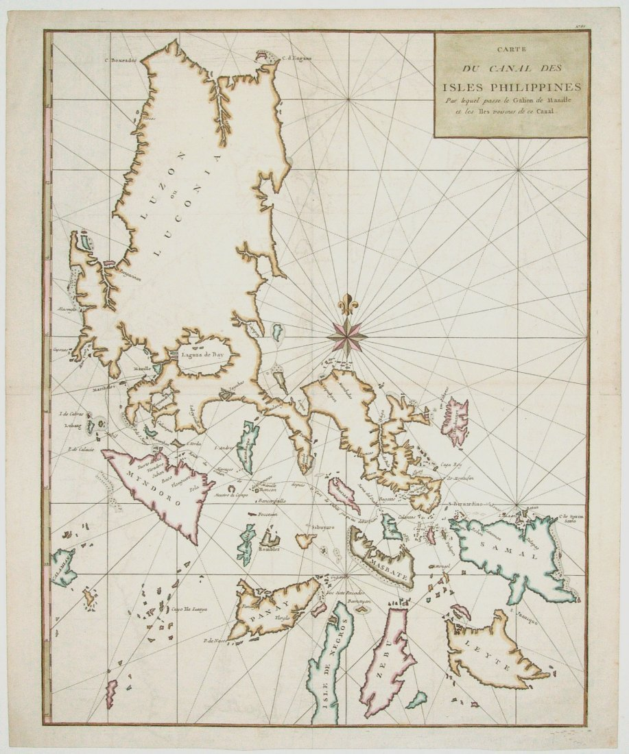Carte du Canal des Isles Philippines, G. Anson 1749