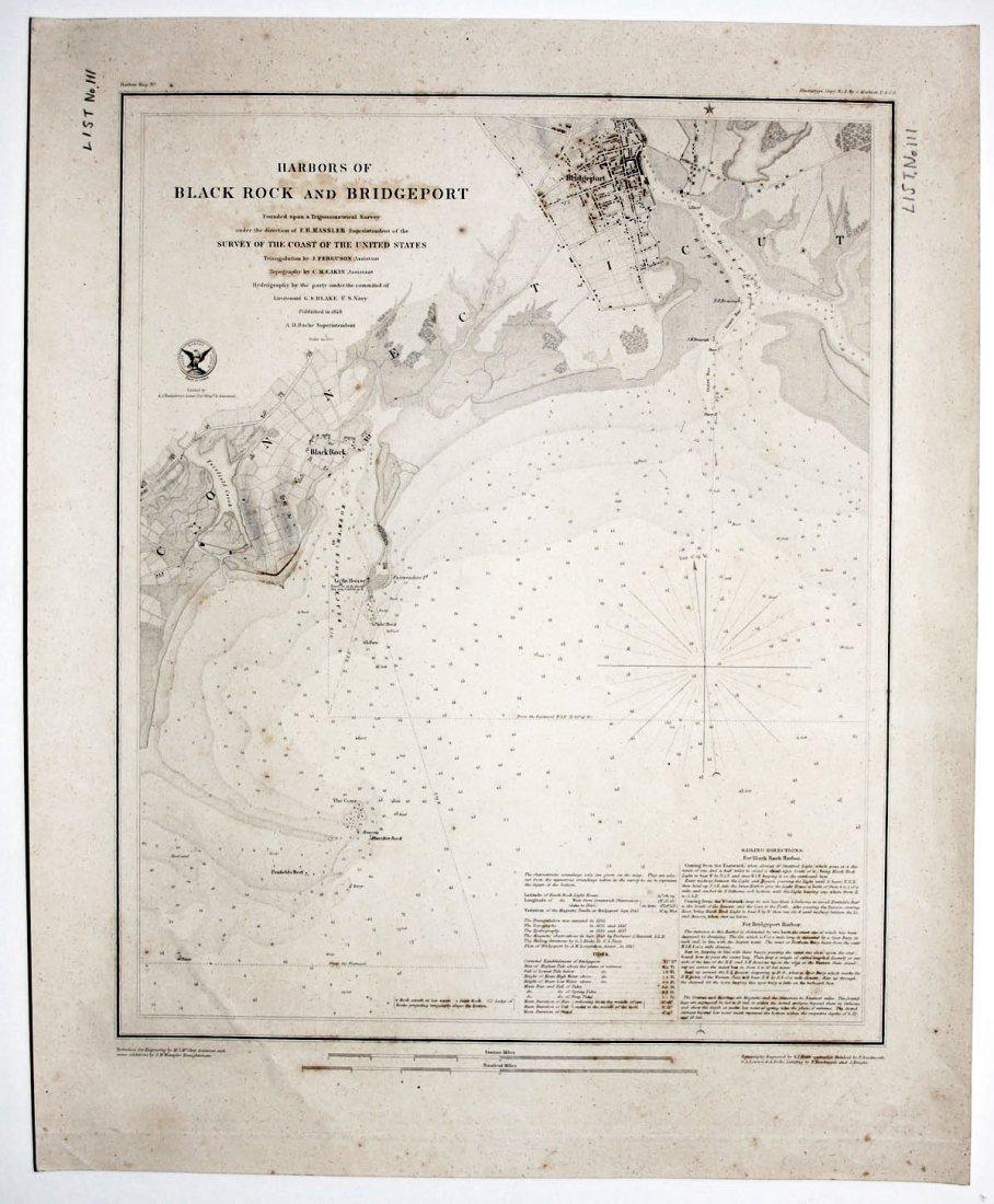 Harbors Of Black Rock And Bridgeport, 1848