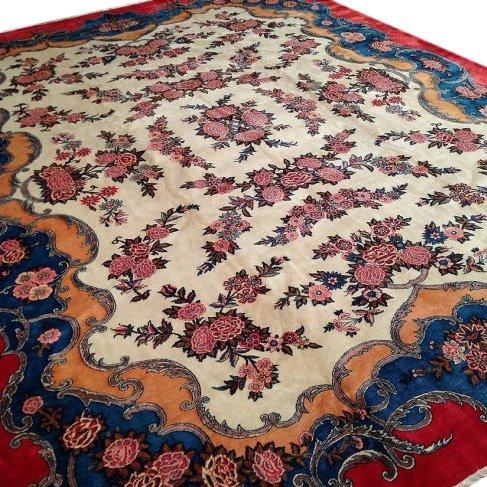 Vintage Persian Kashan Rug, 11x14