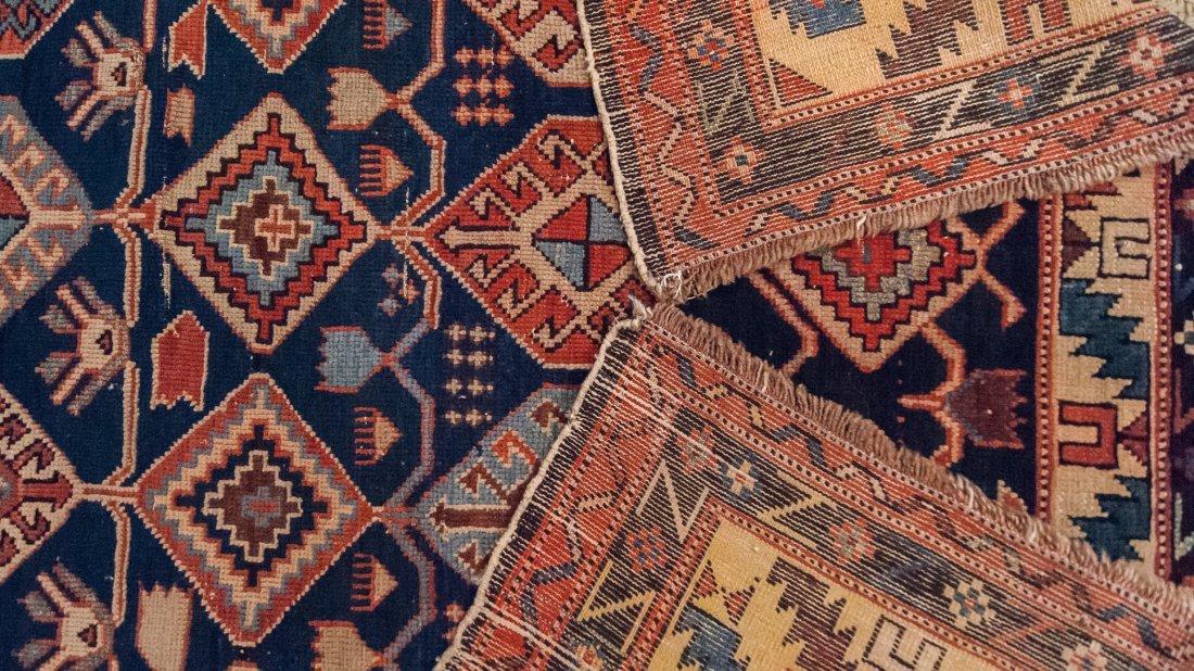 Antique Shirvan Caucasian Wool Rug, 4x4 - 2