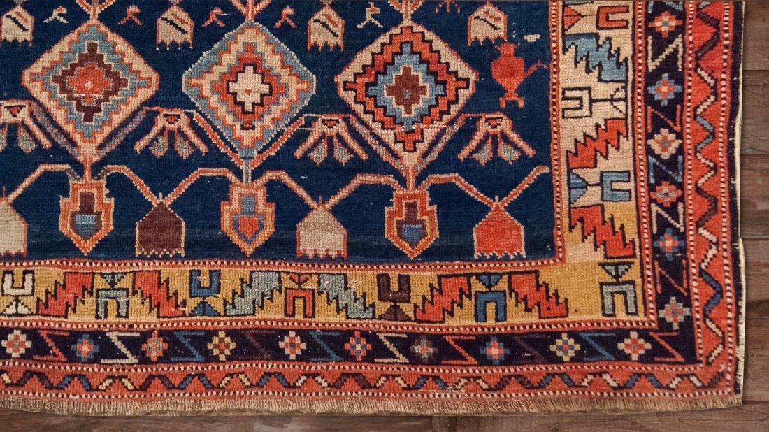 Antique Shirvan Caucasian Wool Rug, 4x4 - 3