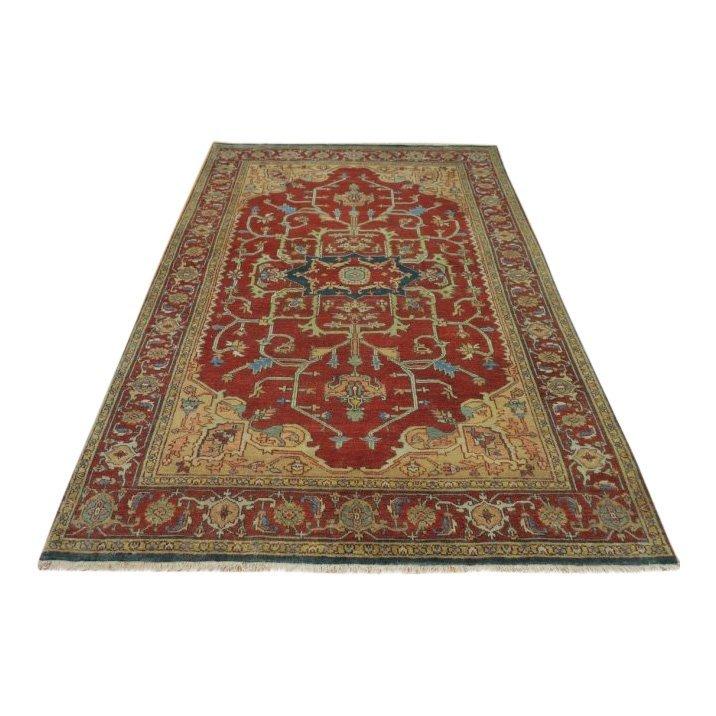Rare Allover Wool Serapi Area Rug, 6x9