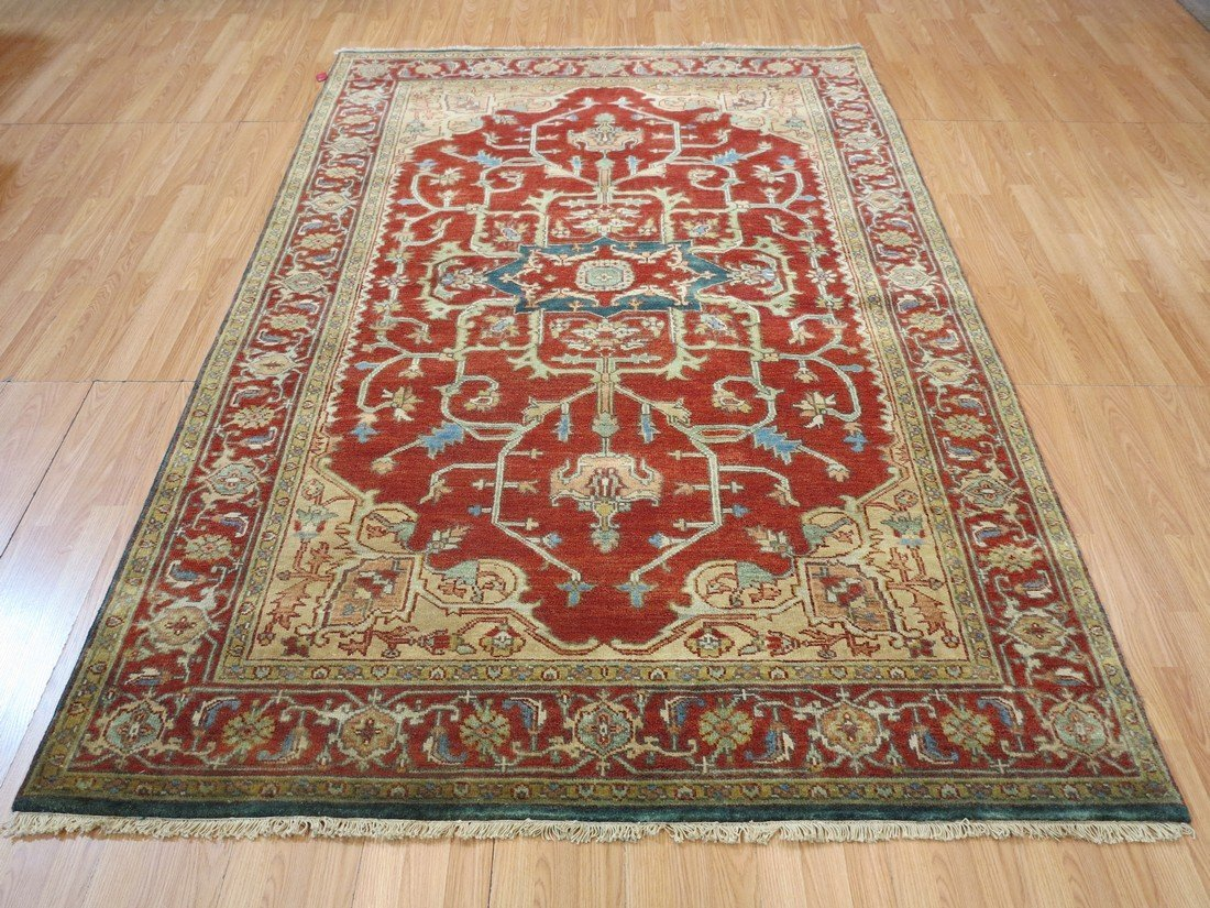 Rare Allover Wool Serapi Area Rug, 6x9 - 2