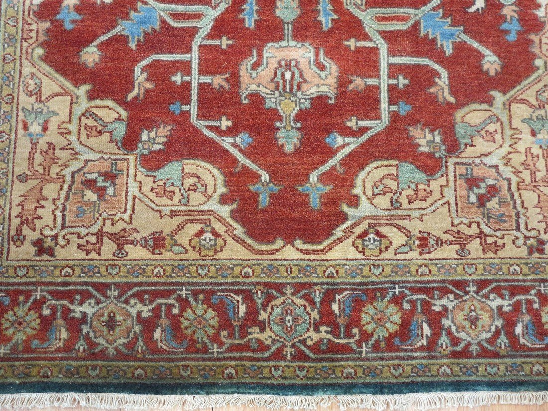 Rare Allover Wool Serapi Area Rug, 6x9 - 3