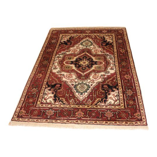 Rare Colored Wool Serapi Area Rug, 4x6