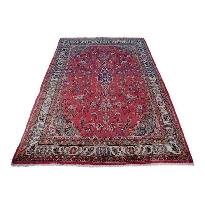 Semi-Antique Persian Wool Sarouk Rug, 7x10