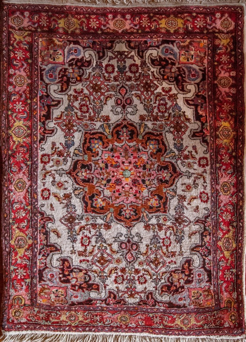 Antique Persian Bidjar Wool Area Rug, 3x5