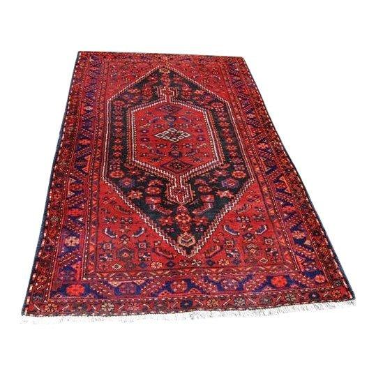 Semi-Antique Persian Nahavand Rug. 5x7