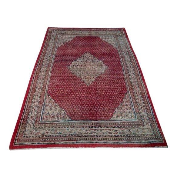 Paisley Persian Wool Sarouk Saraband Rug, 7x11