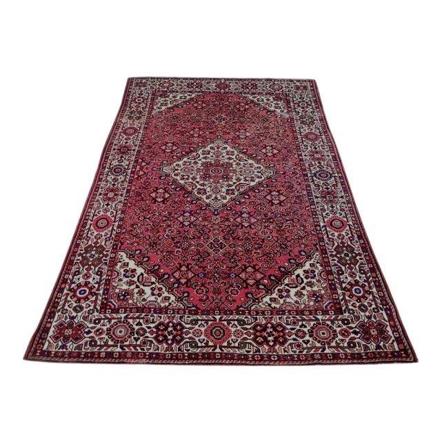 Semi-Antique Wool Persian Mahal Rug, 7x10