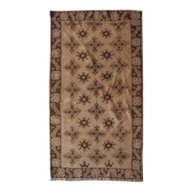 Antique Turkish Wool Oushak Rug, 3x6