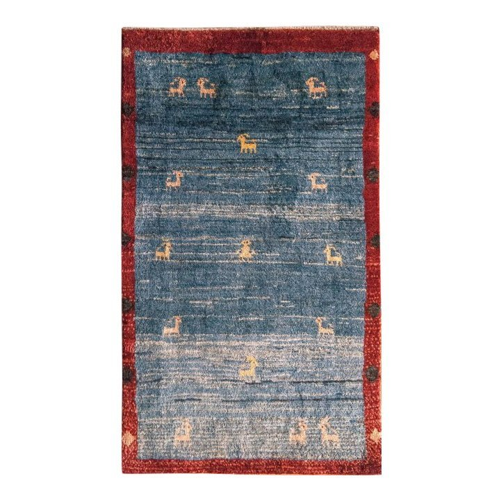 Semi-Antique Tribal Wool Gabbeh Rug, 3x4