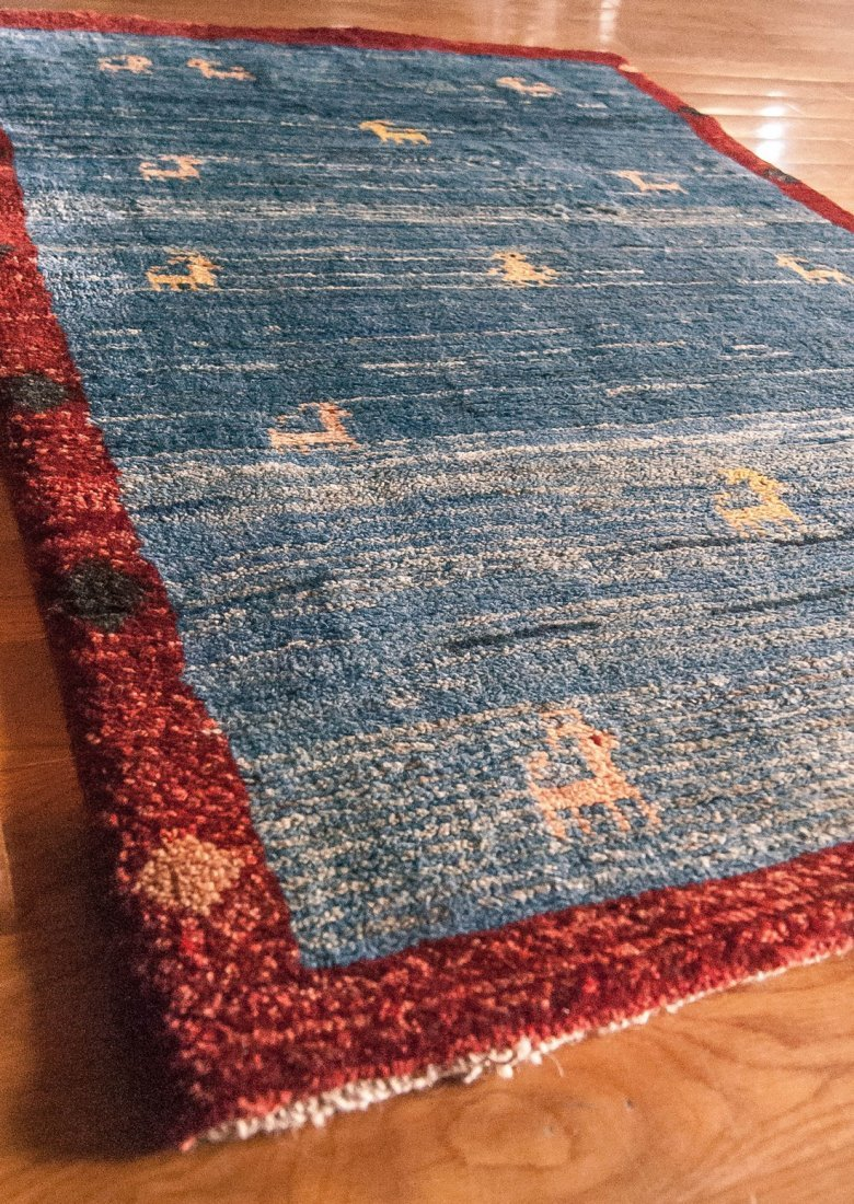 Semi-Antique Tribal Wool Gabbeh Rug, 3x4 - 2
