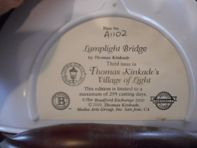 Thomas Kinkade's Lamplight Bridge, 2000 - 3
