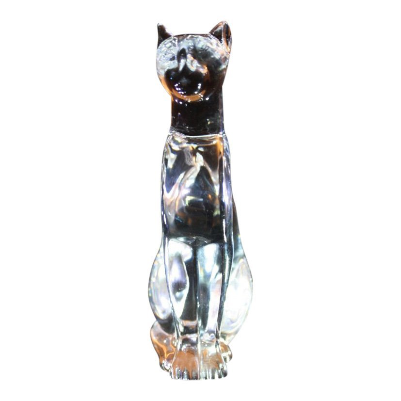 Baccarat Crystal Cat Figurine