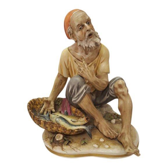 Old Fisherman Porcelain Figurine, 1920's