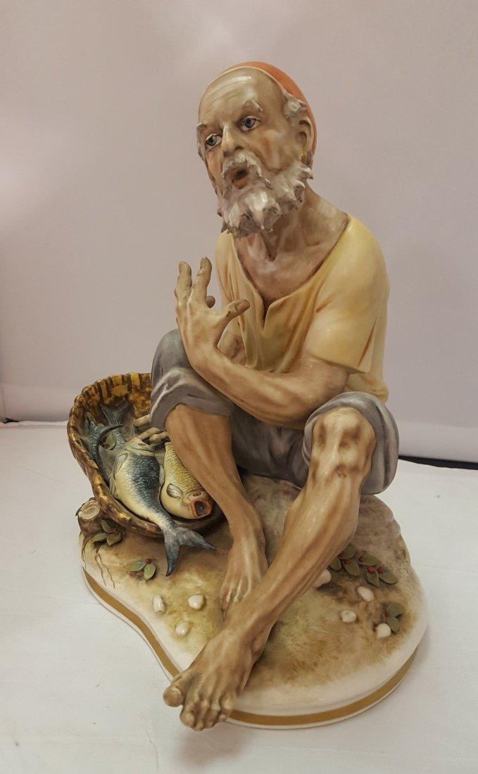 Old Fisherman Porcelain Figurine, 1920's - 3