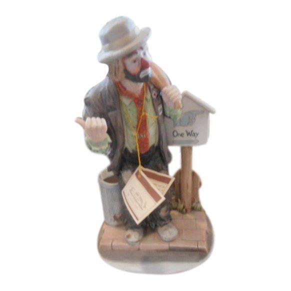 Emmett Kelly Jr One Way Clown Figurine