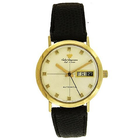 Jules Jurgensen Day-Date Automatic Watch, 1960's - 2
