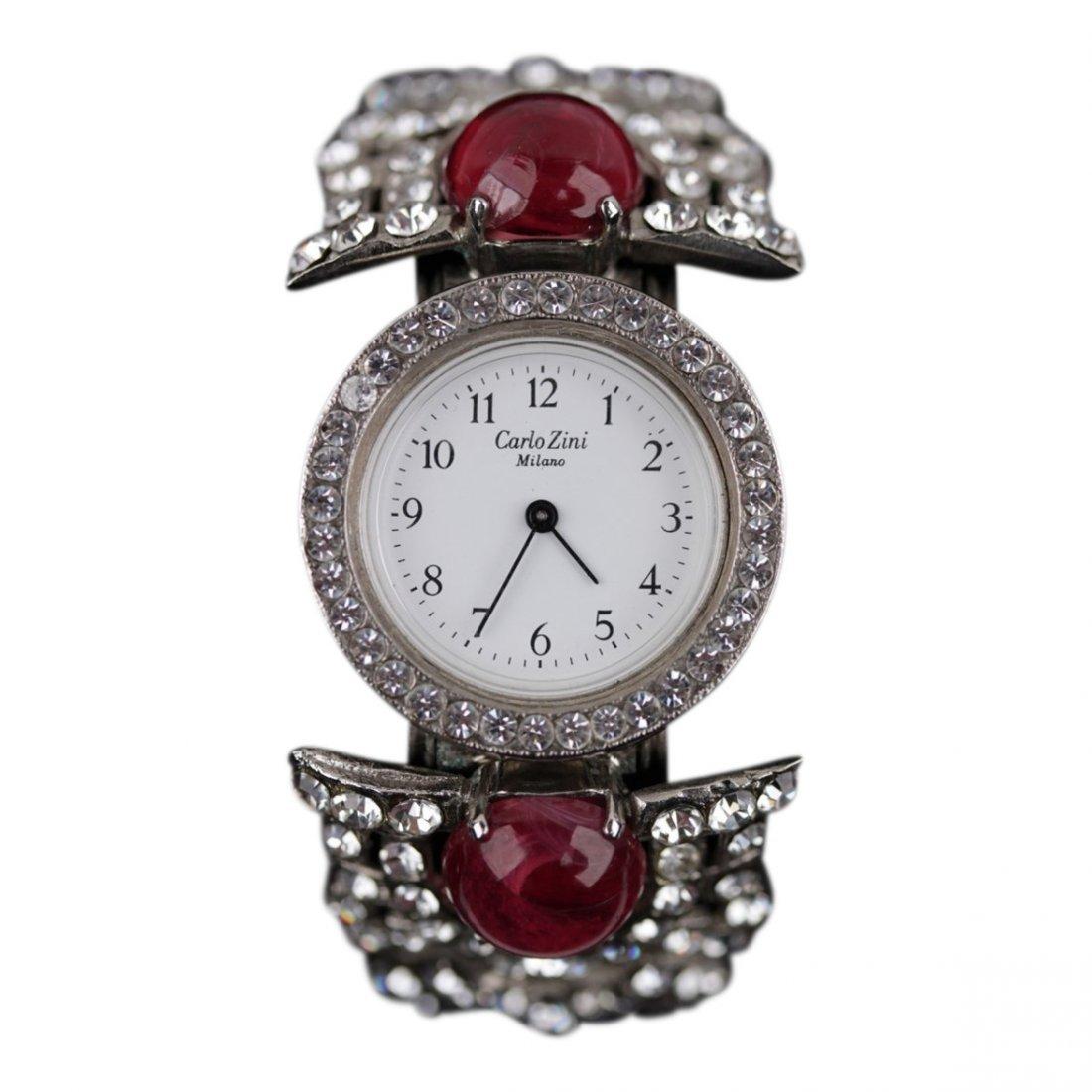 Vintage Carlo Zini Crystal Rhinestones Wristwatch