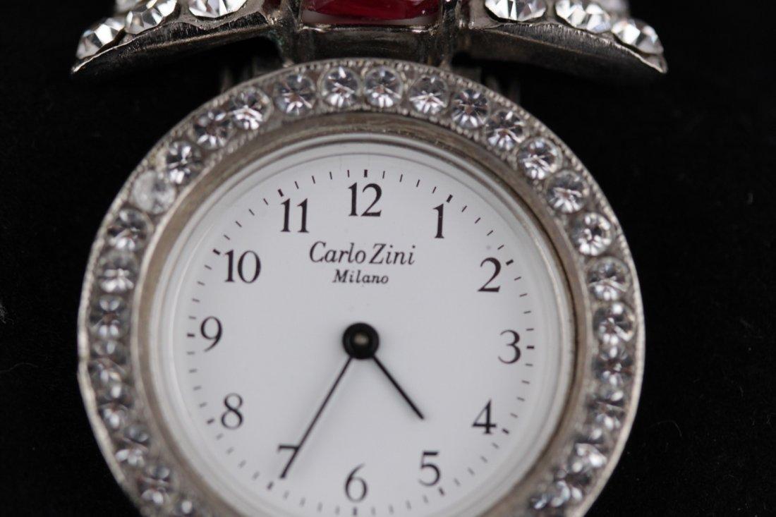 Vintage Carlo Zini Crystal Rhinestones Wristwatch - 2