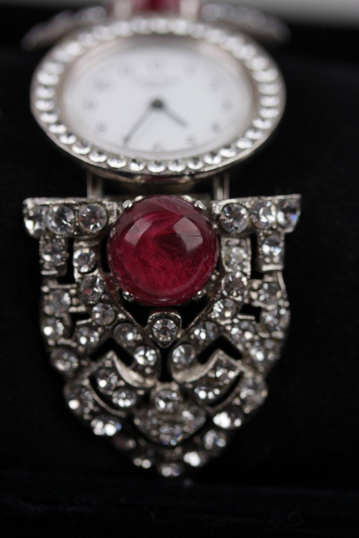 Vintage Carlo Zini Crystal Rhinestones Wristwatch - 3