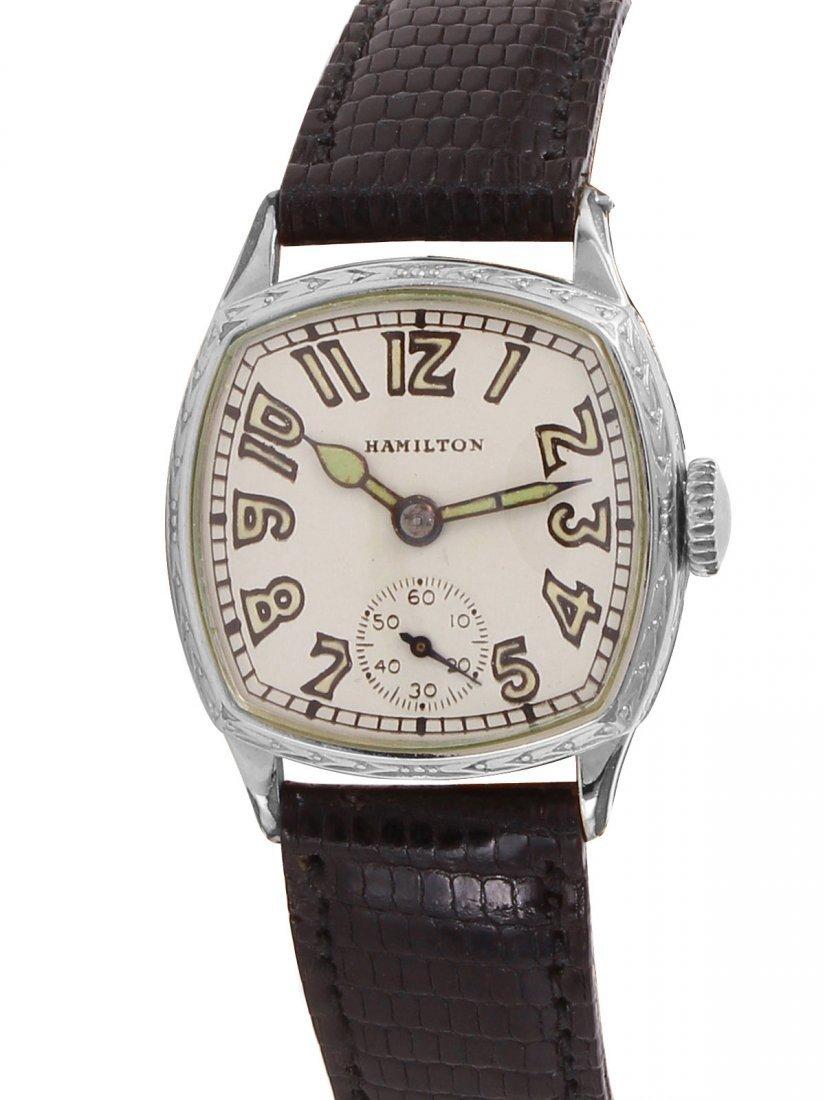 Hamilton Manual Wind 14K Gold Filled Wristwatch