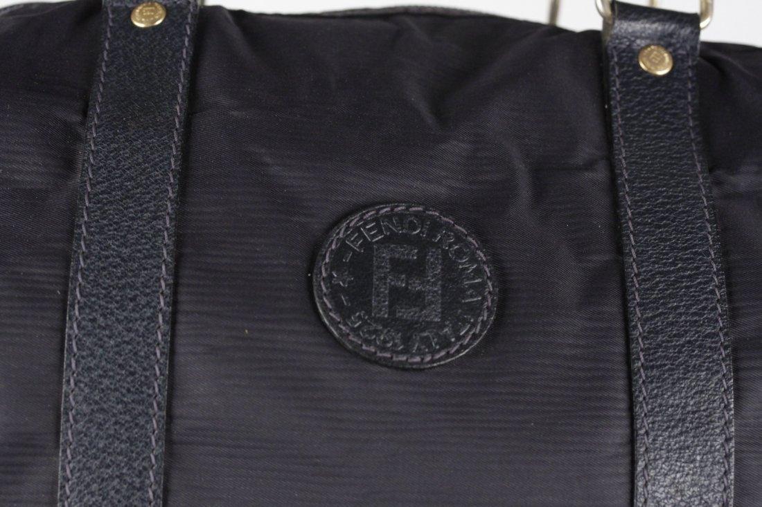 Fendi Vintage Navy Canvas Bag - 2