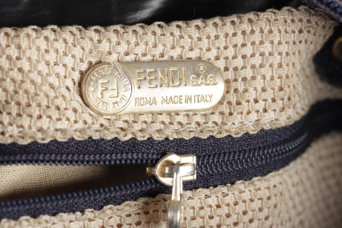 Fendi Vintage Navy Canvas Bag - 8
