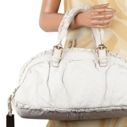 Dolce & Gabbana Limited Edition White Leather Handbag