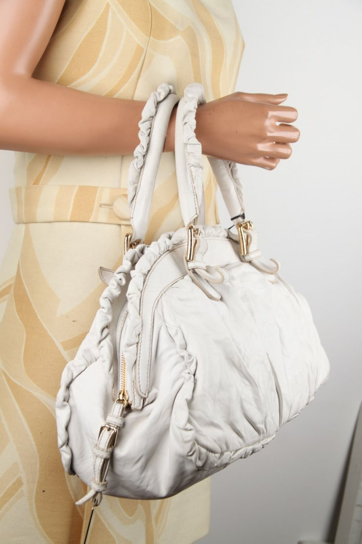 Dolce & Gabbana Limited Edition White Leather Handbag - 3