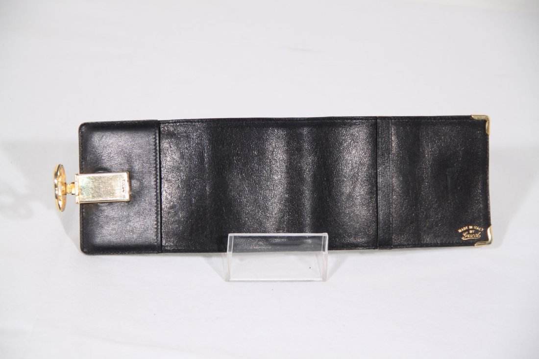 Gucci Vintage Black Leather Wallet - 3