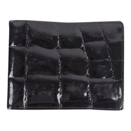 Vintage Black Crocodile Skin Bifold Wallet