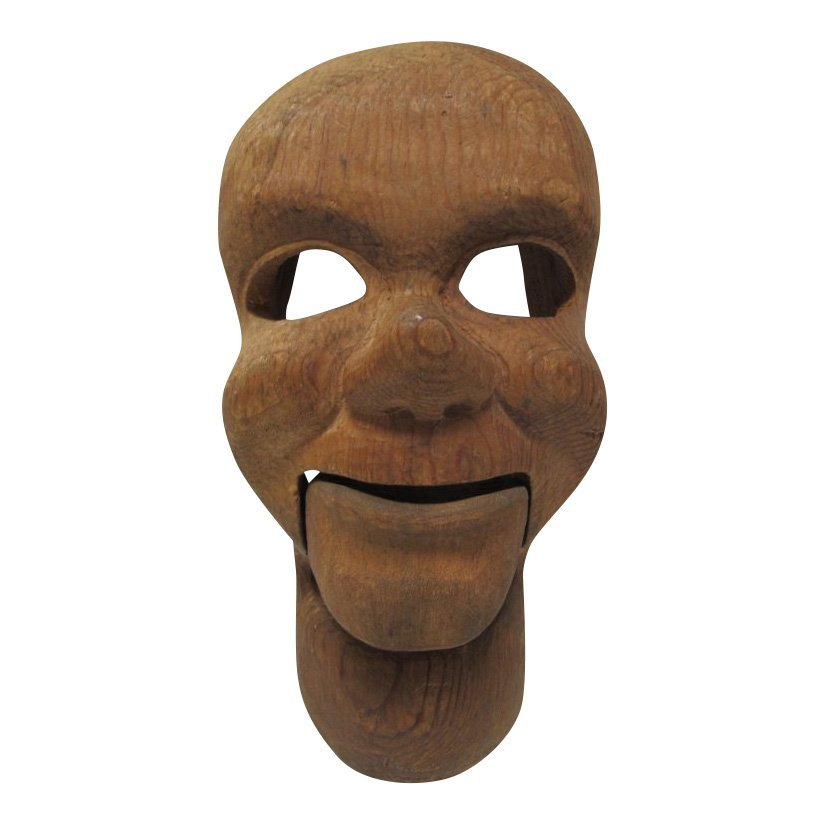 1950s Carved Ventriloquist Dummy Head