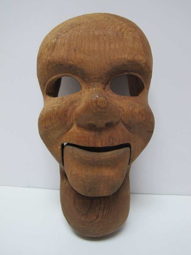 1950s Carved Ventriloquist Dummy Head - 2