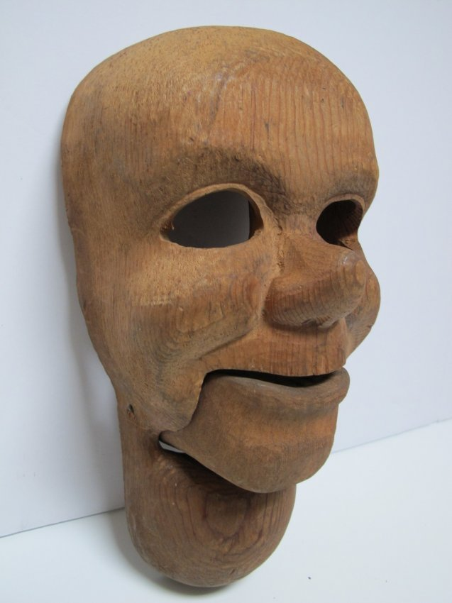 1950s Carved Ventriloquist Dummy Head - 3