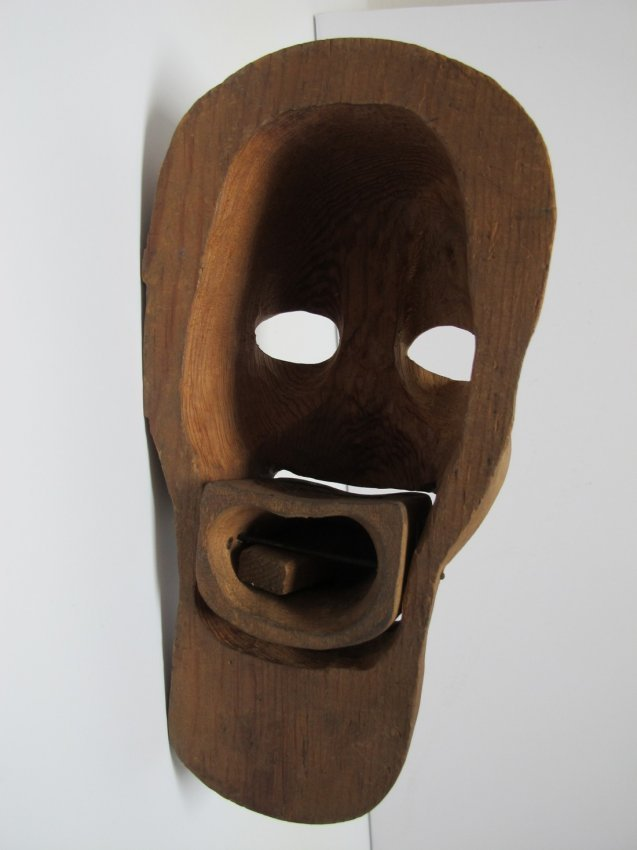 1950s Carved Ventriloquist Dummy Head - 4