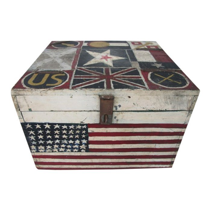 WWII Painted Flag Insignia Box