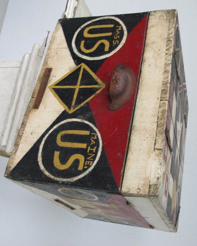 WWII Painted Flag Insignia Box - 3