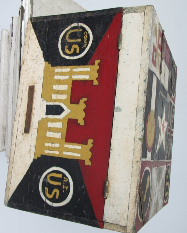 WWII Painted Flag Insignia Box - 4