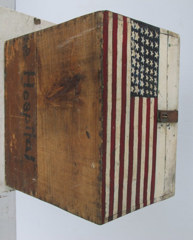WWII Painted Flag Insignia Box - 7