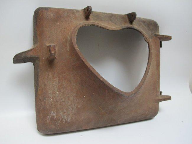 1900s Iron Heart Stove Door - 2