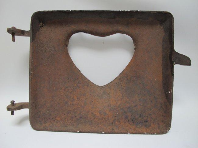 1900s Iron Heart Stove Door - 3