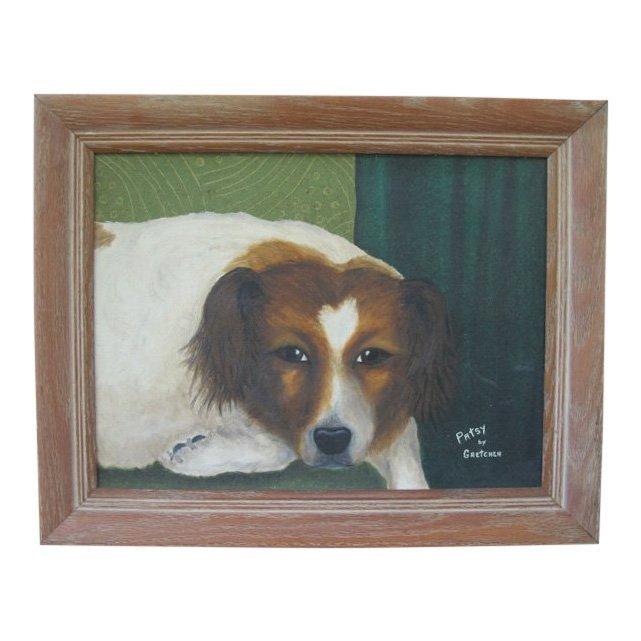 1950s Americana Dog Painting