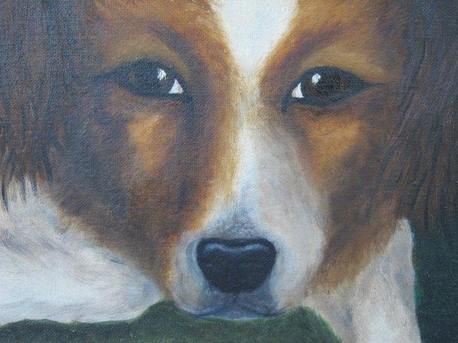 1950s Americana Dog Painting - 2