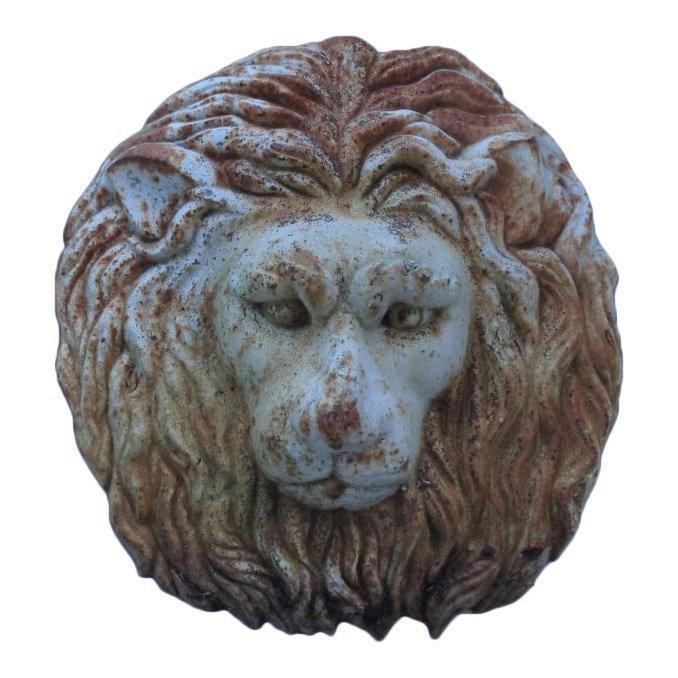 20th C Cast Iron Lion Head