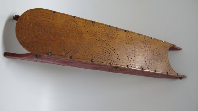 20th C Incised Toy Sled - 2