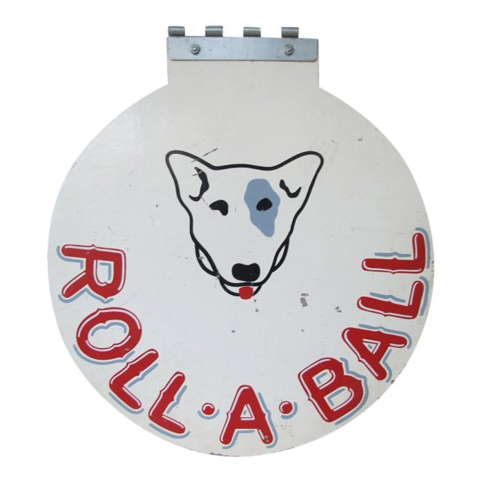 20th C Roll-A-Ball Painted Sign